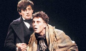 Roger Rees and David Threlfall  in David Edgar's stage adaptation of Nicholas Nickleby