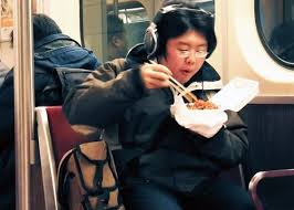eating on the subway